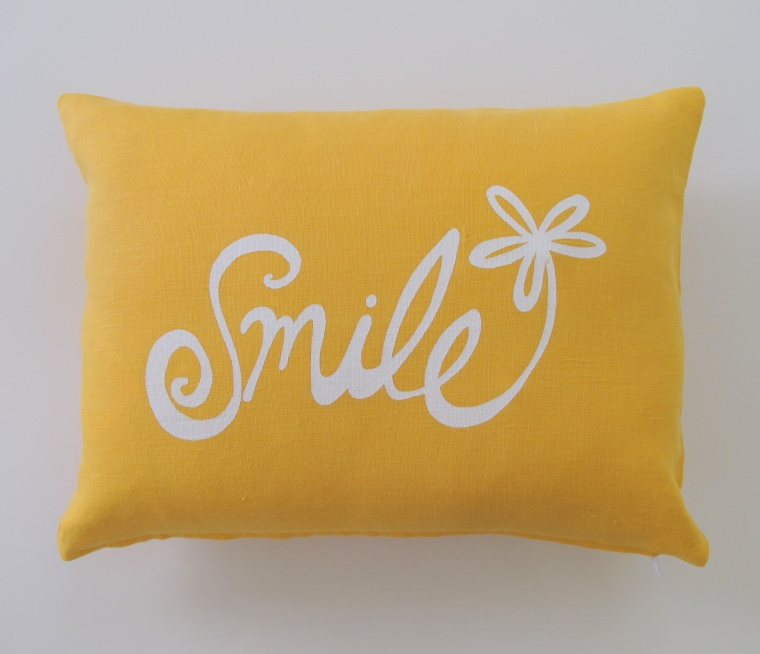 Smile Flower Pillow Cover - 12 x 16 inches